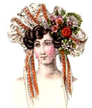 Fanshion n hats and hair-do in 1820
